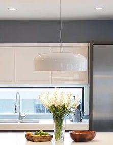 White Ceiling Pendant Kitchen Light