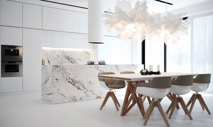 white-origami-lighting-marble-kitchen