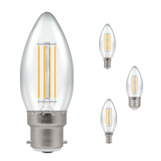 5W Dimmable LED Clear Candle Light Bulb, Warm White