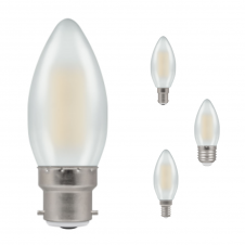 5W Dimmable LED Opal Candle Light Bulb, Warm White