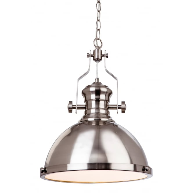 Firstlight Albion Brushed Steel Ceiling Pendant