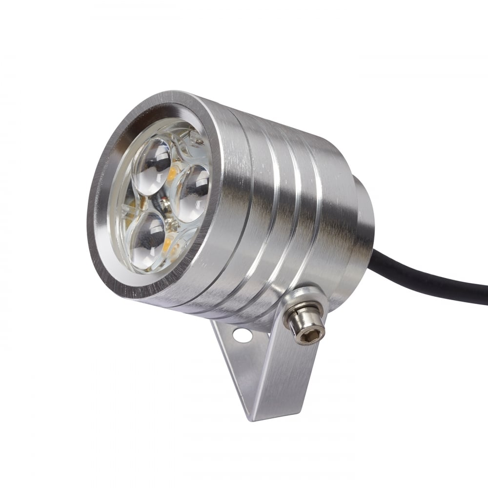 Aluminium adjustable exterior spotlight 3w ip54