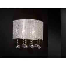 Andromeda Chrome 2 Light Wall Lamp