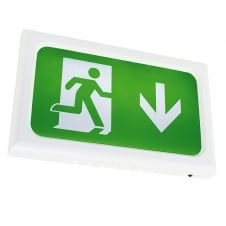 Encore LED Emergency Exit Box, White