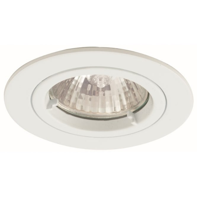 Ansell IP65 Twistlock GU10 White Bathroom Downlight