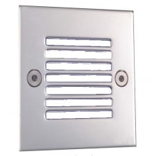 LED Square Stainless Steel Light, White LED