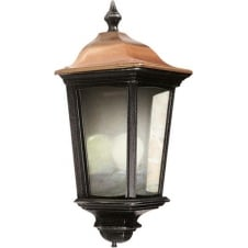 Roma Black Silver & Copper Lantern