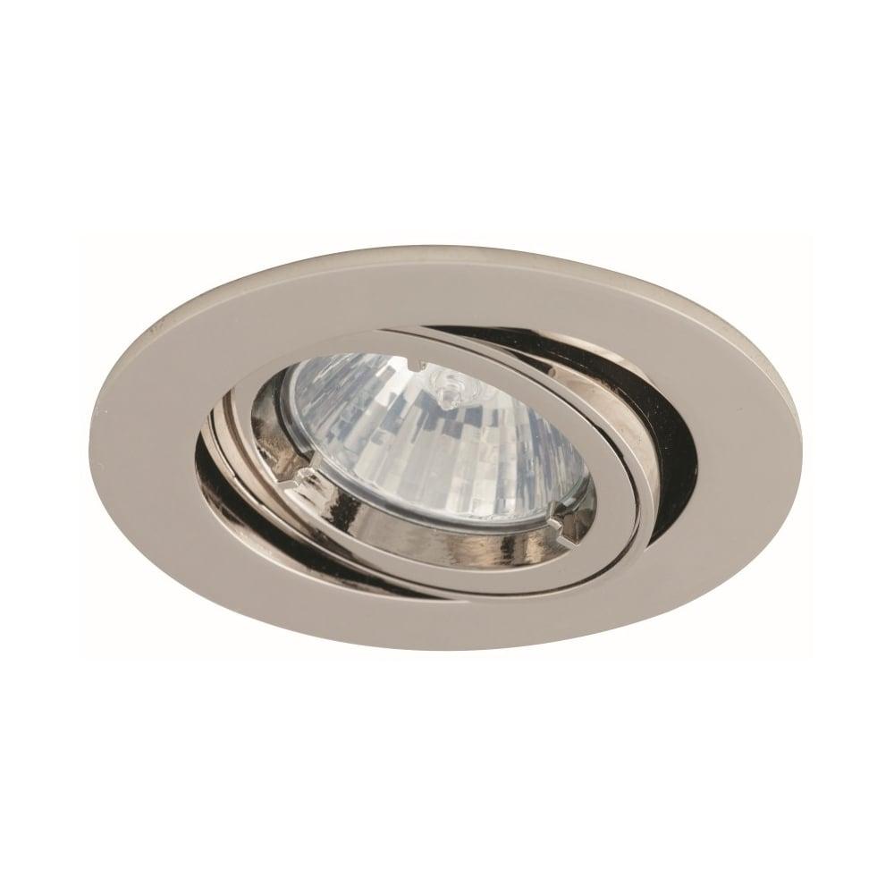 Recessed lighting bulb types : Ansell twistlock gimbal gu mr brushed chrome
