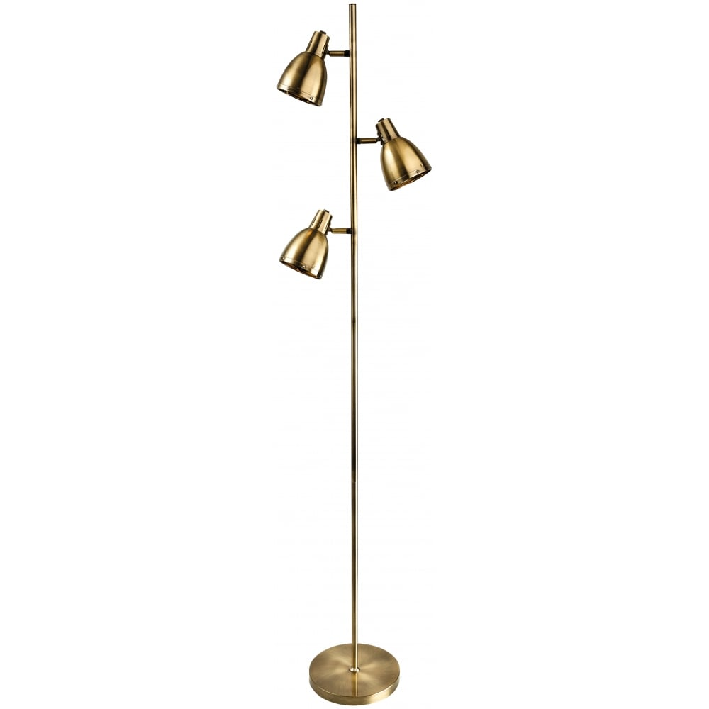 Firstlight 3468ab vogue floor lamp ideas4lighting for 4 bulb antique floor lamp