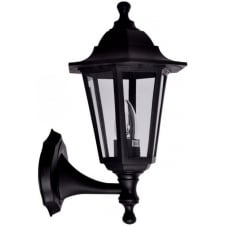 Antique Outdoor Black Wall Lantern