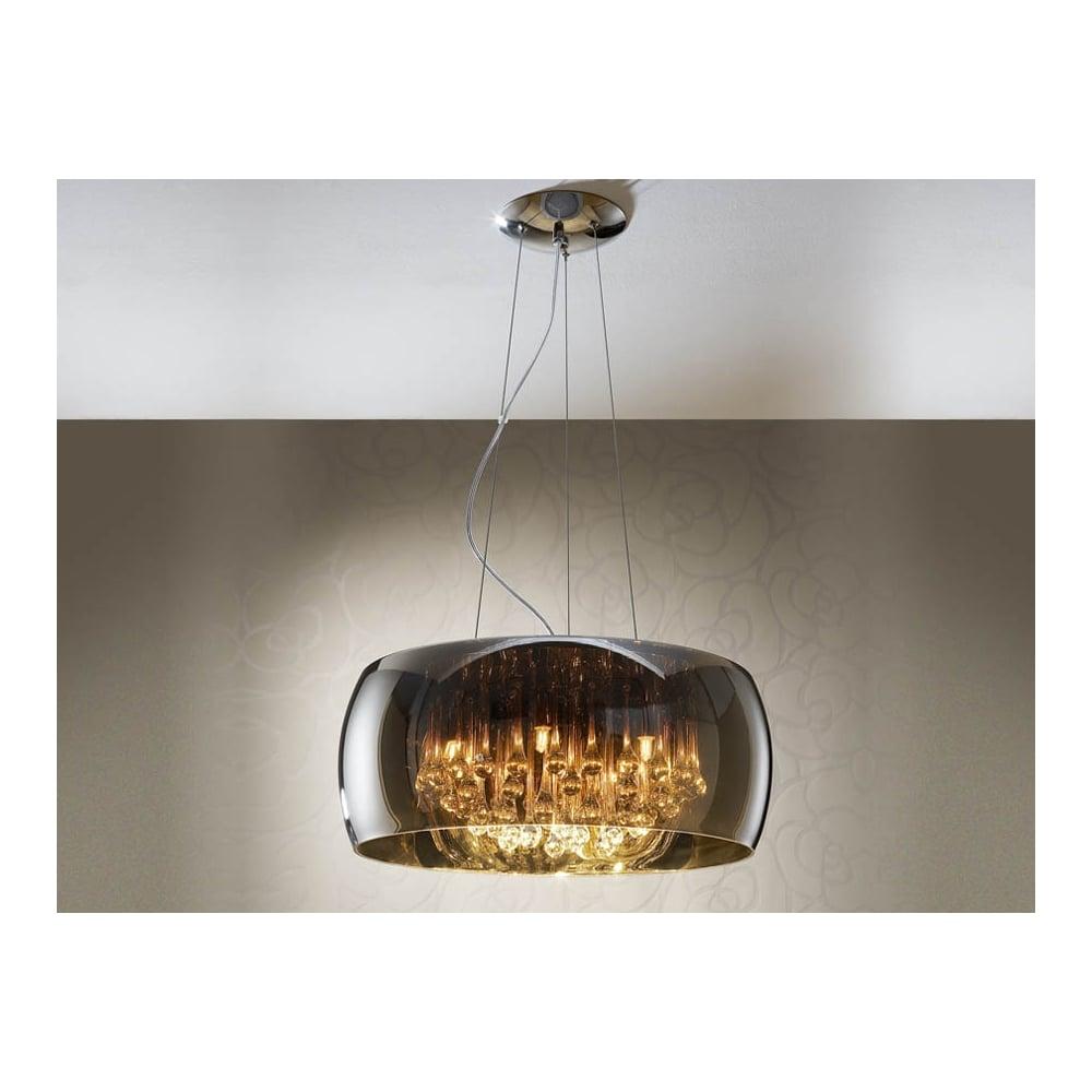 Schuller 508111 Argos Light Pendant Crystal Chrome Clear Ideas4lighting