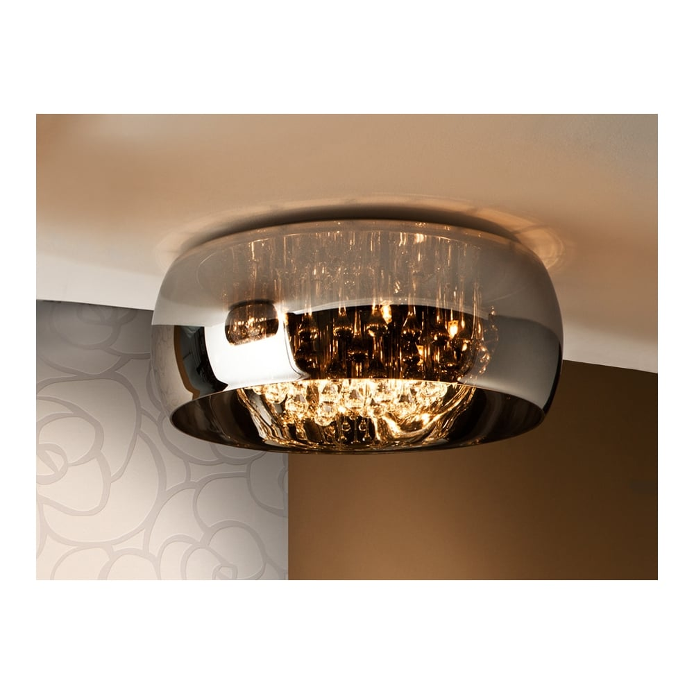 Argos Oval Glass Bowl Flush Ceiling Light Fitting Ideas4lighting Com Sku20880i4l