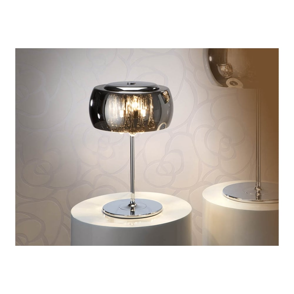 schuller argos smoked oval glass dome mini table lamp. Black Bedroom Furniture Sets. Home Design Ideas