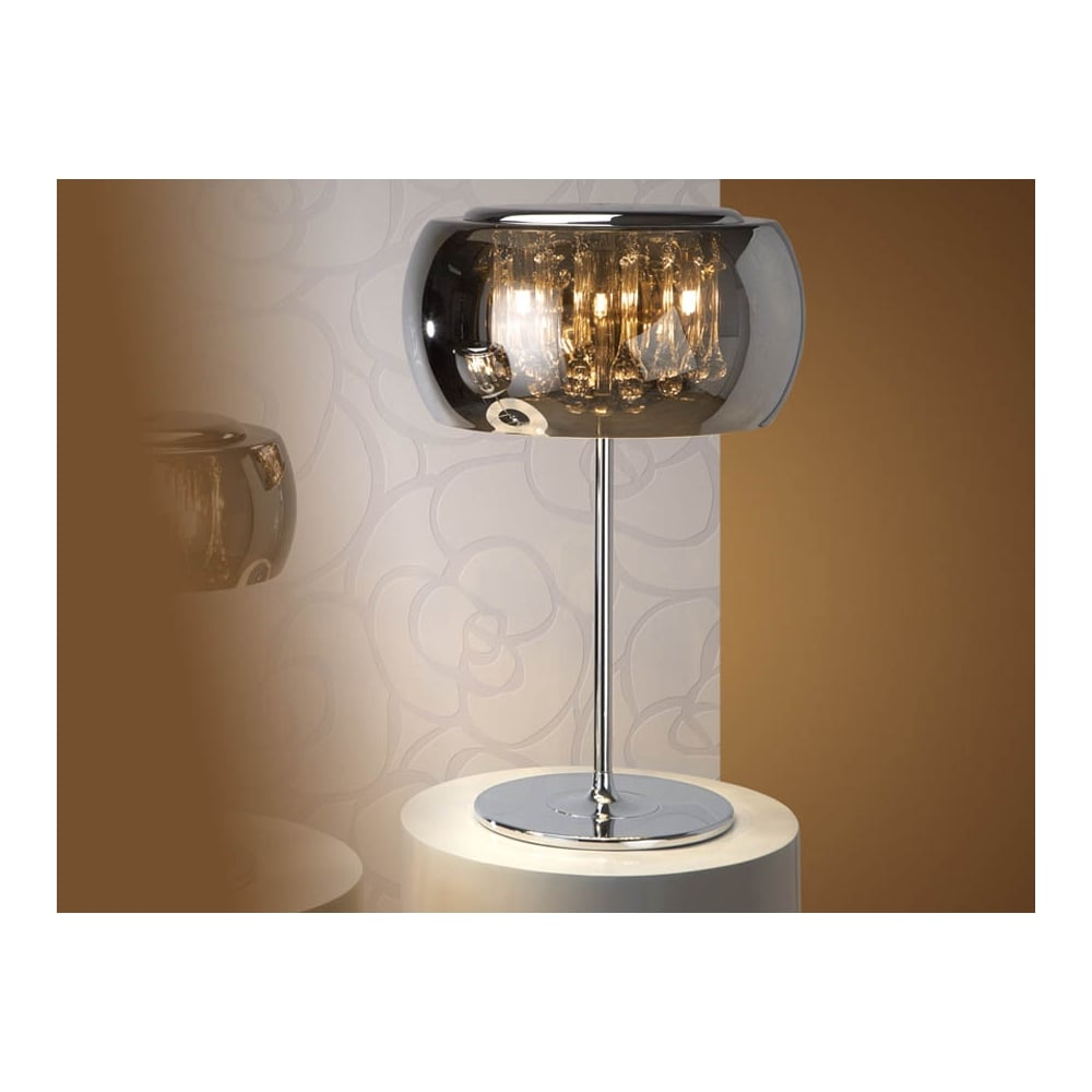 Schuller Argos Smoked Glass Dome Table Lamp |ideas4lighting.com |  SKU21002I4L