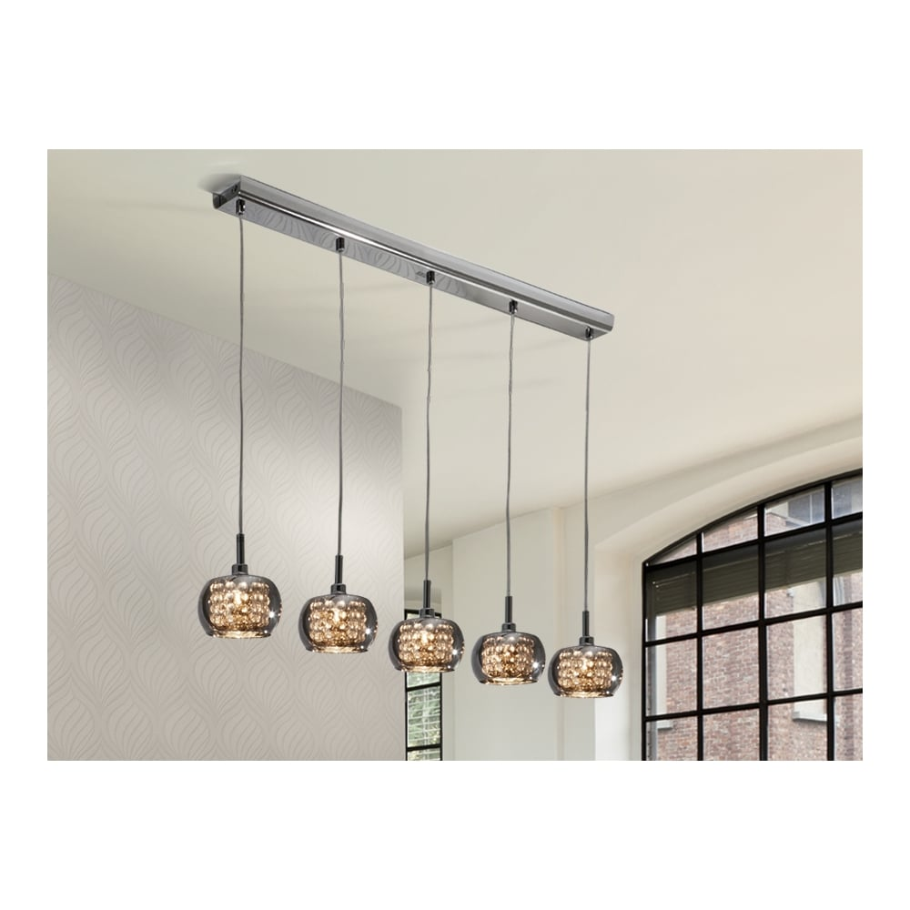 Arian 5 Glass Dome Ceiling Light