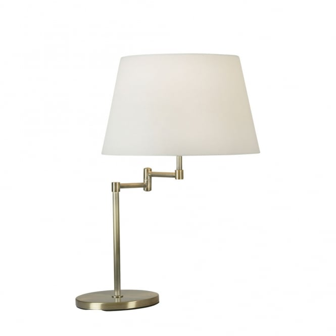 Oaks Armada Antique Brass Double Swing Arm Table Lamp