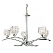 Maple Chrome 5 Light Ceiling Fitting