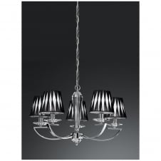 Artemis Chrome 5 Light Ceiling Fitting