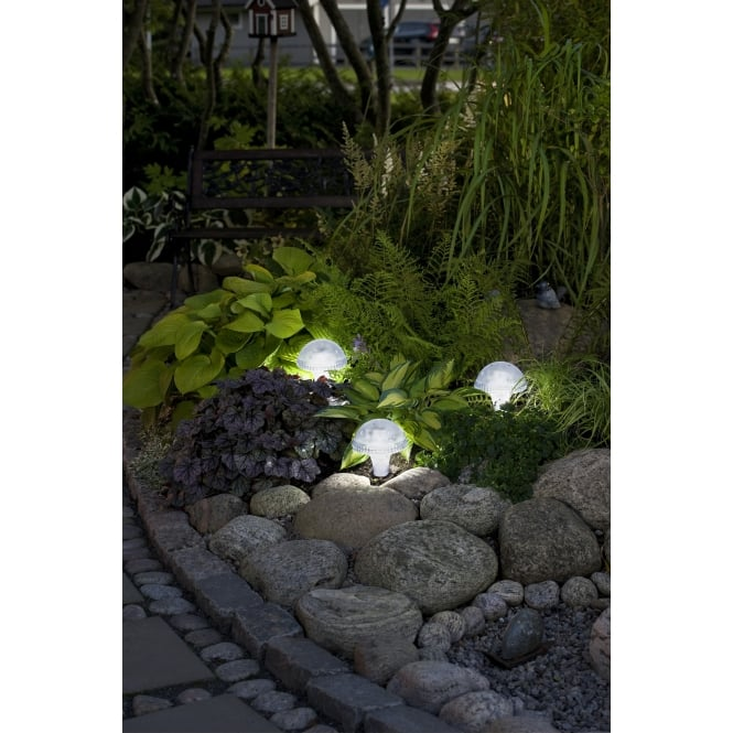 Outdoor Solar Lights Ireland: Konstsmide 7663-000 Assisi Solar Light LED. Clear