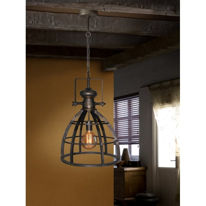 Schuller Atelier Rustic Cage Ceiling Lamp