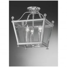Atrio Chrome 3 Light Flush Lantern
