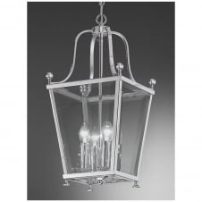 Atrio Chrome 4 Light Ceiling Lantern