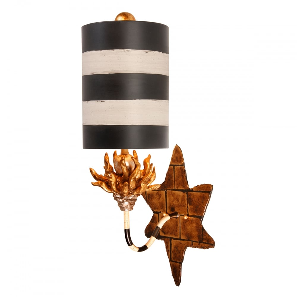 Audubon Black Striped Shade Wall Sconce ideas4lighting SKU11109I4L