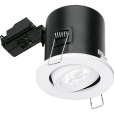 GU10 Fire Rated Tilted Downlight - White