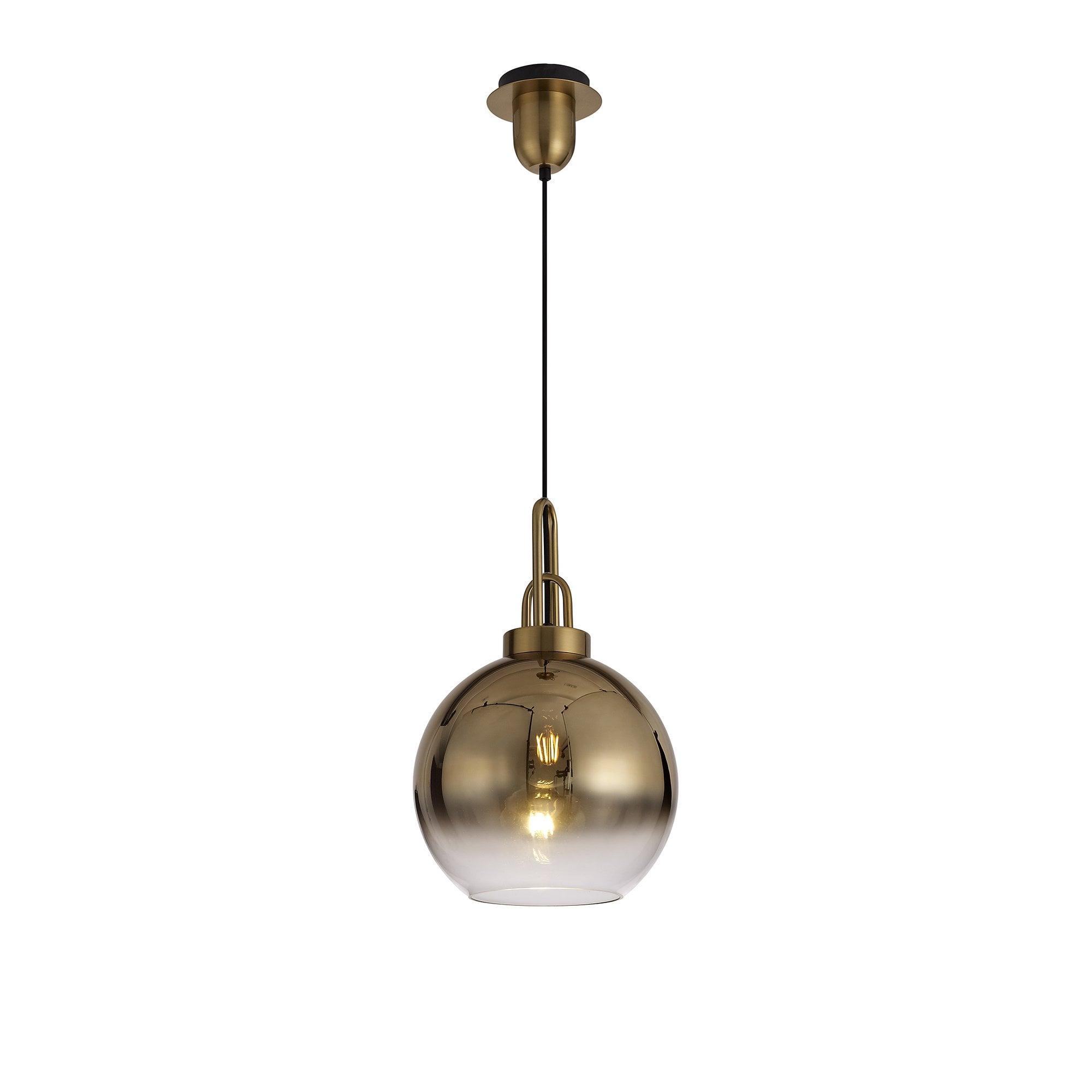 Ava Licht 1 Light Pendant E27 With 30cm Globe Glass Brass Gold Matt Black Clear Shop By Type From Ideas4lighting Uk