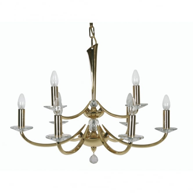 Pedret Bahia 9 Light Pendant Gold