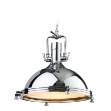 Bali Chrome Cafe Industrial Pendant