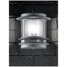 Barbican Silver Outdoor Flush Wall Light IP44