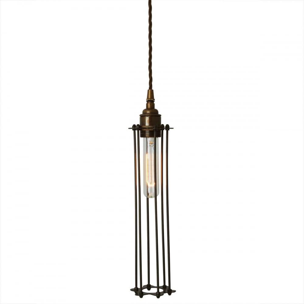 Long Pendant Lights: Mullan Lighting MLP403SATBRS