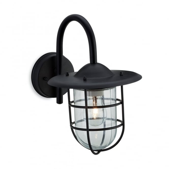 Firstlight Black Fisherman Wall Lantern with Cage