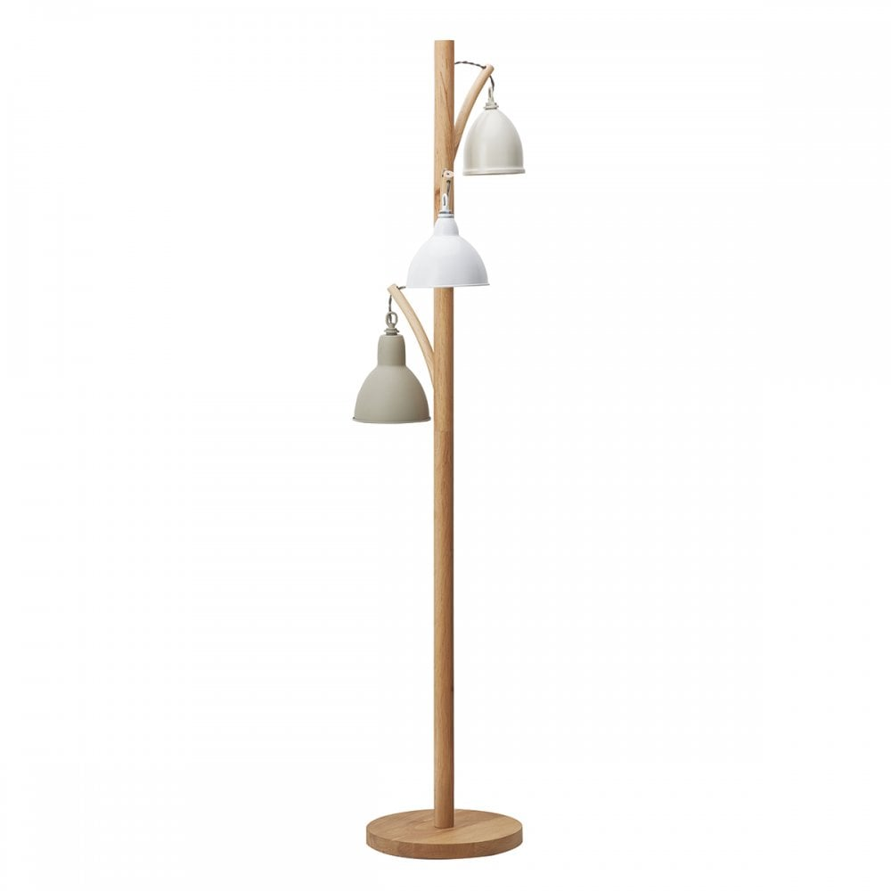 Floor Lamp Complete With Painted Shade
