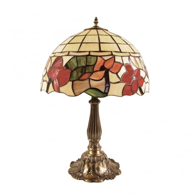 Oaks Border Tiffany Table Lamp