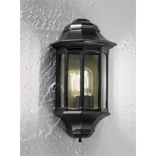 Boulevard Black Exterior Flush Wall Light