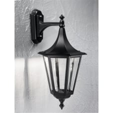 Boulevard Black Exterior Single Light Wall Bracket IP43 (Down)