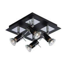 BRACKX Ceiling light finished in Black Chrome