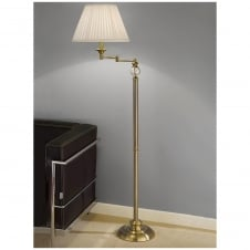Bronze Swing Arm Standard Lamp with Glass Sphere Inset