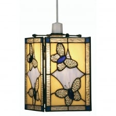 Butterfly Blue Tiffany Ceiling Pendant