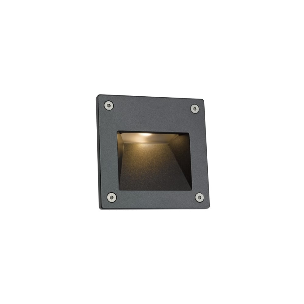 Ansell External Wall Lights : Ansell ACSQLEDWL Camini LED ideas4lighting SKU13421I4L