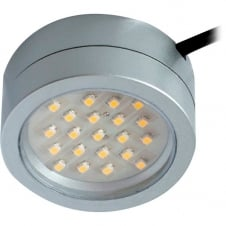 Captain 2W LED Mains Cabinet Light - Satin Silver