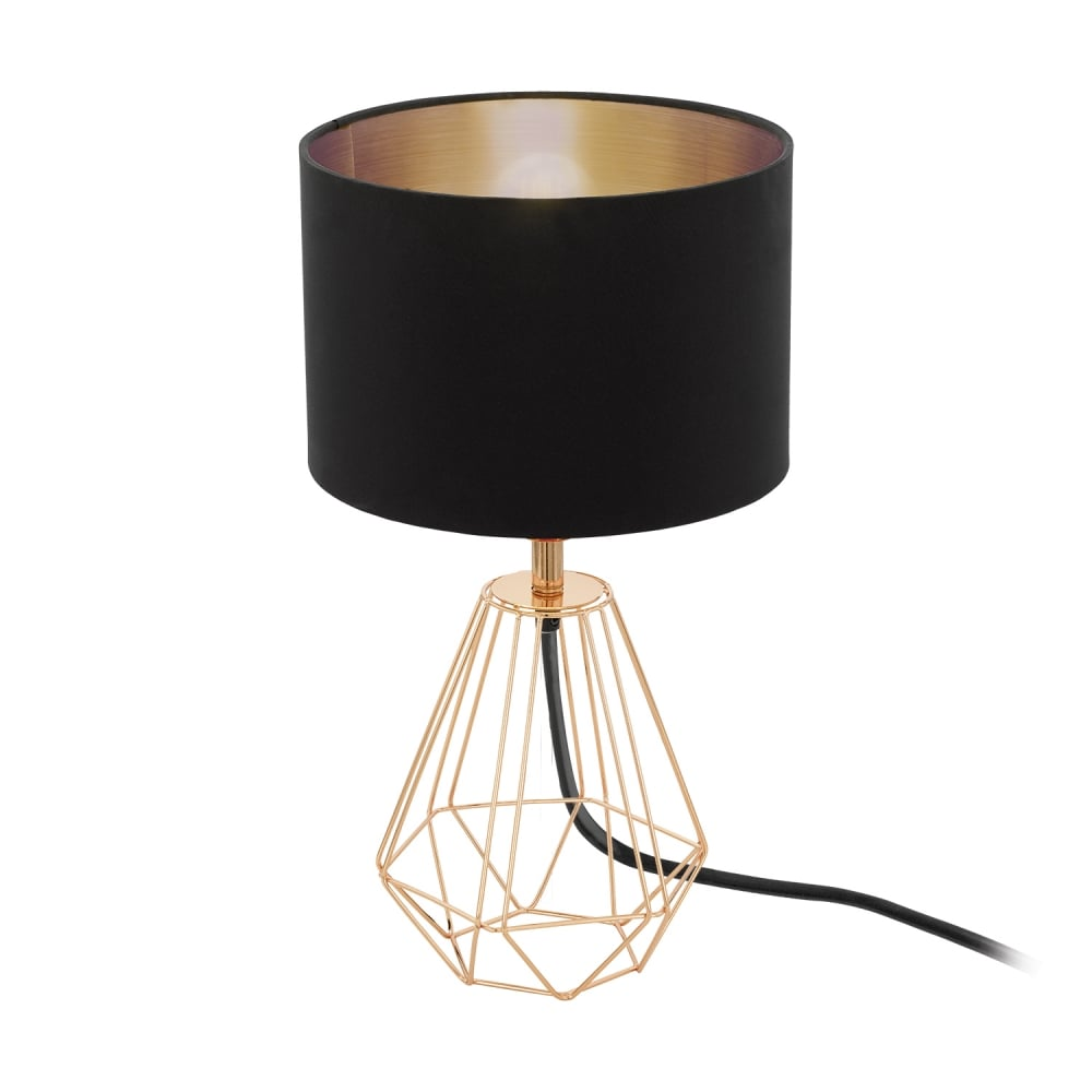Eglo 95787 carlton rose copper wire frame table lamp carlton rose copper wire frame table lamp greentooth Choice Image