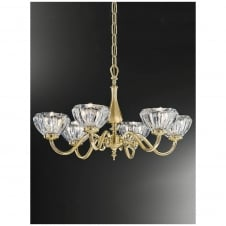 Castilla Satin Brass 6 Light Ceiling Fitting