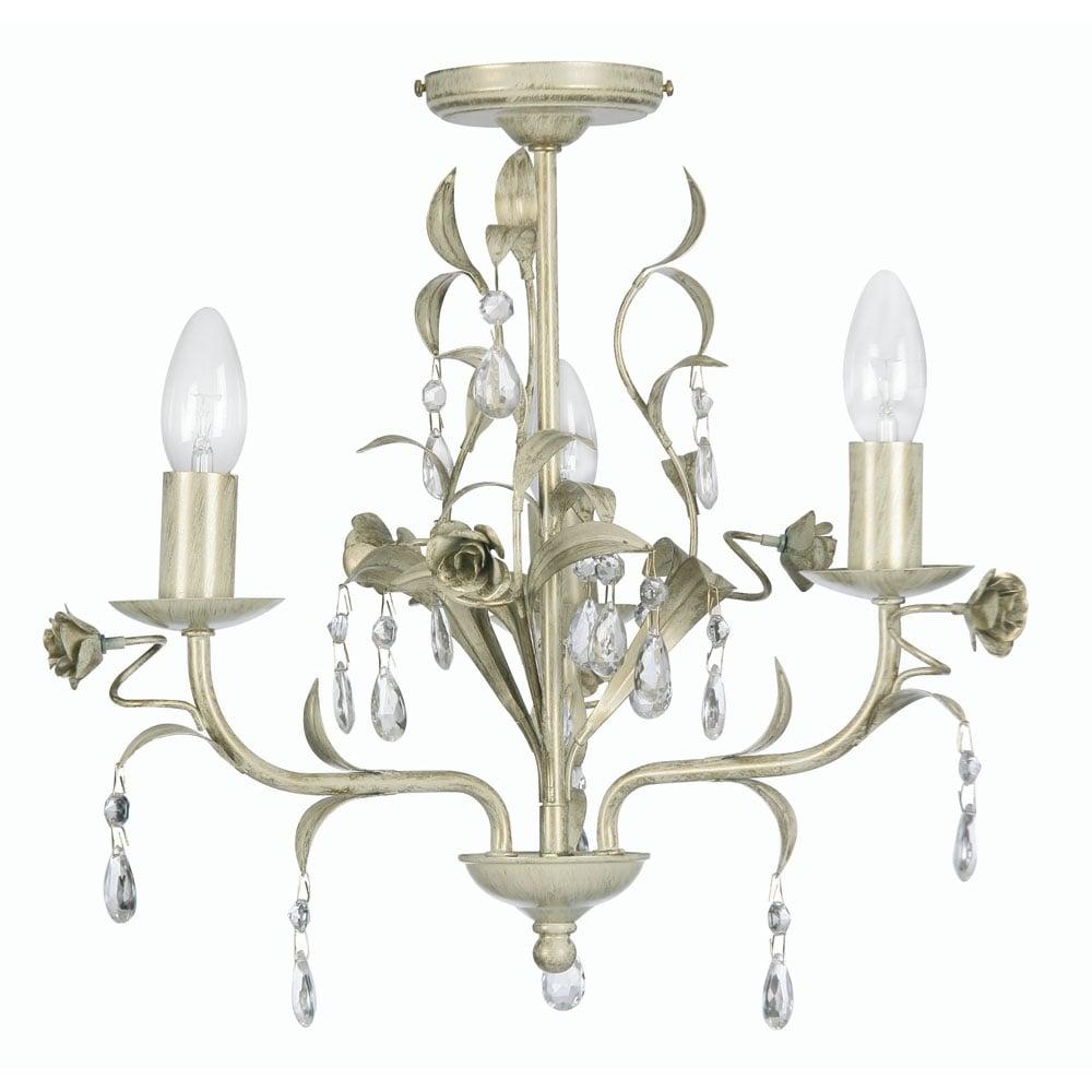 Catania Cream Gold 3 Light Ceiling Pendant