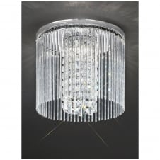Charisma Chrome and Crystal 350mm Flush Ceiling Fitting