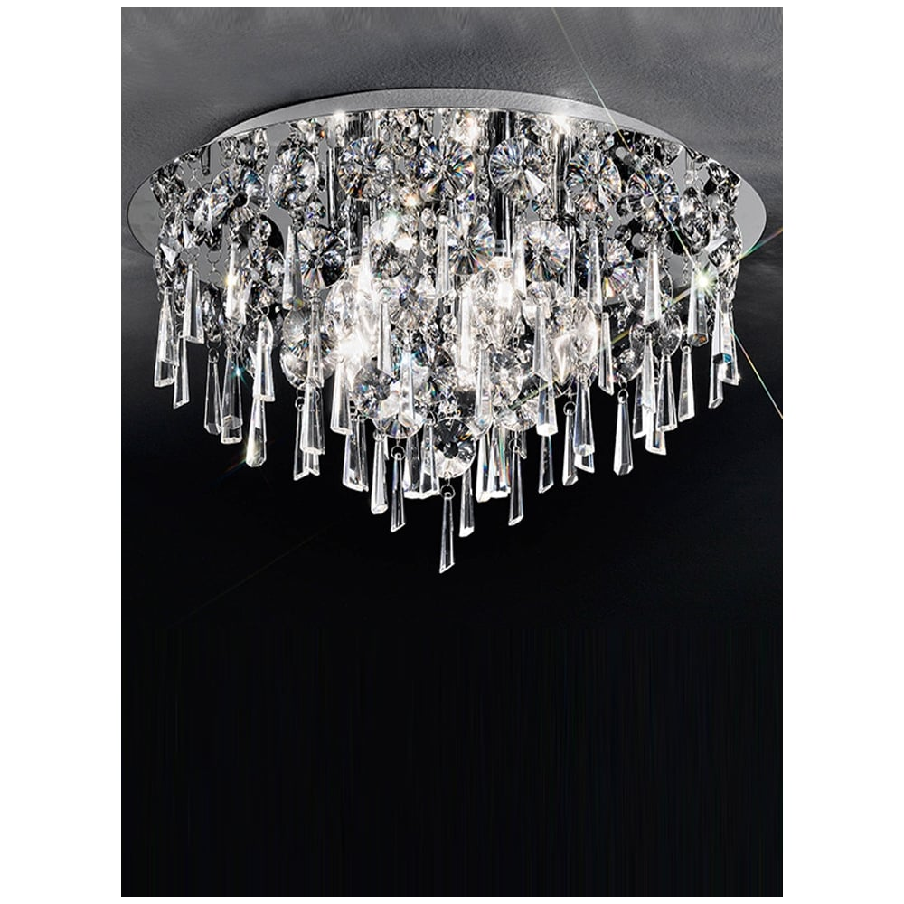 Crystal Flushmount Ceiling Light