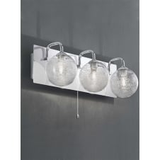 Chrome Over Mirror 3 Light Fitting IP44