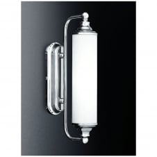 Chrome Single Light Wall Bracket with Opal Glass
